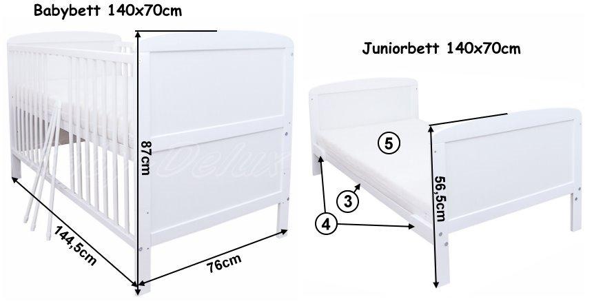 babyzimmer babybett mit schublade wickelkommode wei bettw sche komplett set ebay. Black Bedroom Furniture Sets. Home Design Ideas