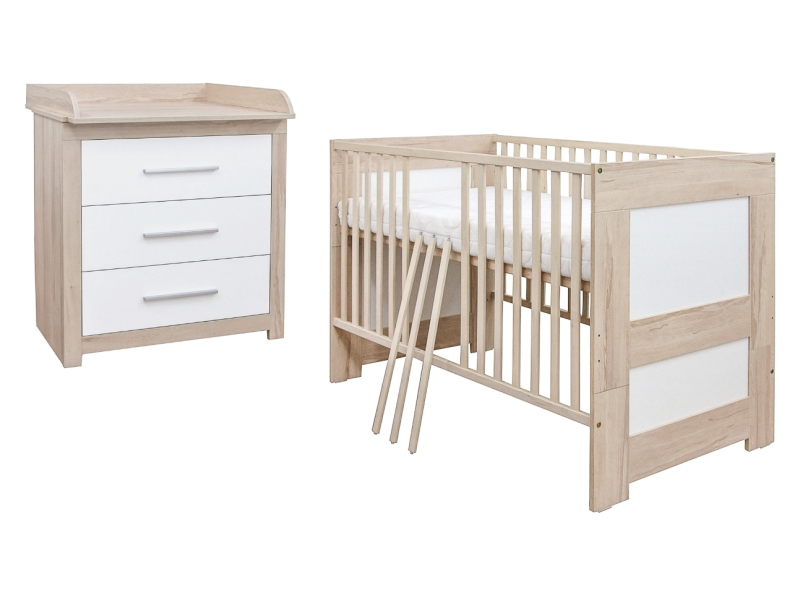 babyzimmer babybett kinderbett wickelkommode birke natur komplett set ebay. Black Bedroom Furniture Sets. Home Design Ideas