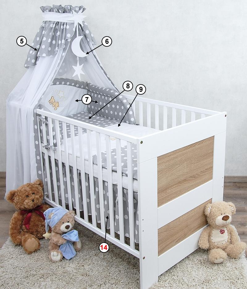 babybett kinderbett juniorbett 140x70 wei sonoma bettset. Black Bedroom Furniture Sets. Home Design Ideas
