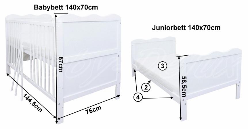 babyzimmer babybett kinderbett wickelkommode wei bettw sche bettset komplett ebay. Black Bedroom Furniture Sets. Home Design Ideas