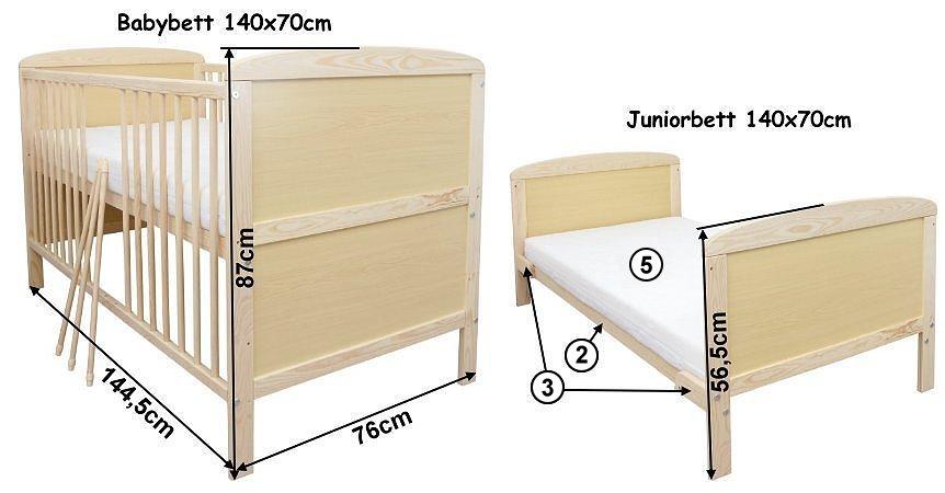 babybett kinderbett juniorbett 140x70 mit schublade bettw sche bettset komplett ebay. Black Bedroom Furniture Sets. Home Design Ideas