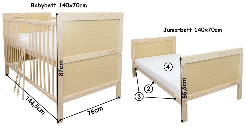 babybett kinderbett juniorbett 140x70 bettw sche 100x135 komplett 22 tlg neu ebay. Black Bedroom Furniture Sets. Home Design Ideas
