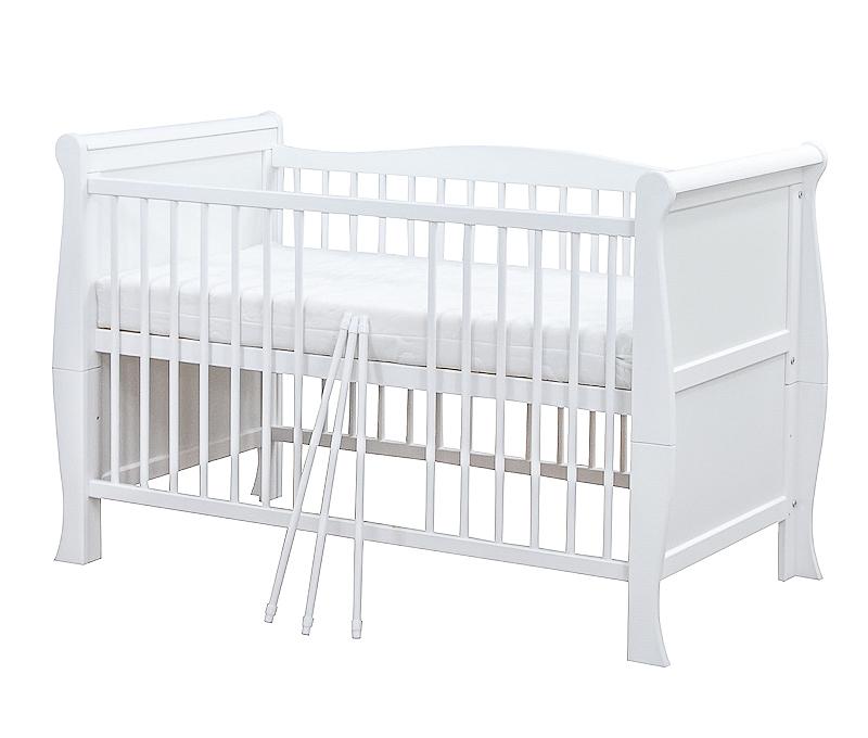 babybett kinderbett juniorbett umbaubar wei massivholz 140x70 neu ebay. Black Bedroom Furniture Sets. Home Design Ideas