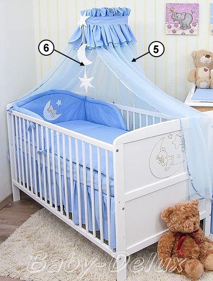 babybett kinderbett mond wei 140x70 bettw sche bettset. Black Bedroom Furniture Sets. Home Design Ideas