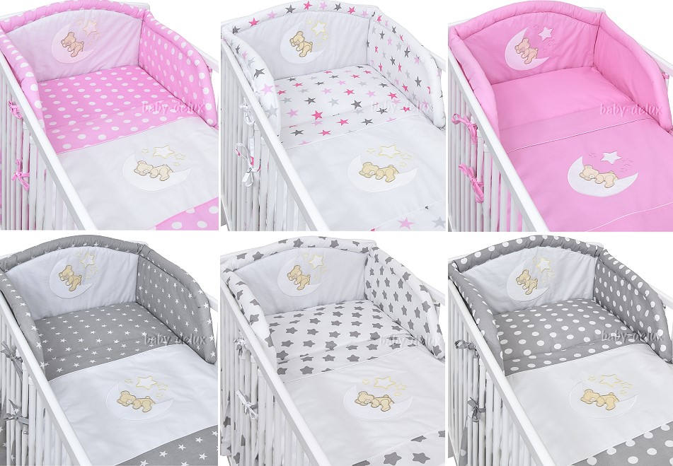babyzimmer babybett kinderbett mond wickelkommode rosa komplet set ebay. Black Bedroom Furniture Sets. Home Design Ideas