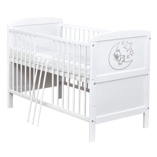 babybett kinderbett juniorbett wei mond umbaubar 140x70 neu ebay. Black Bedroom Furniture Sets. Home Design Ideas