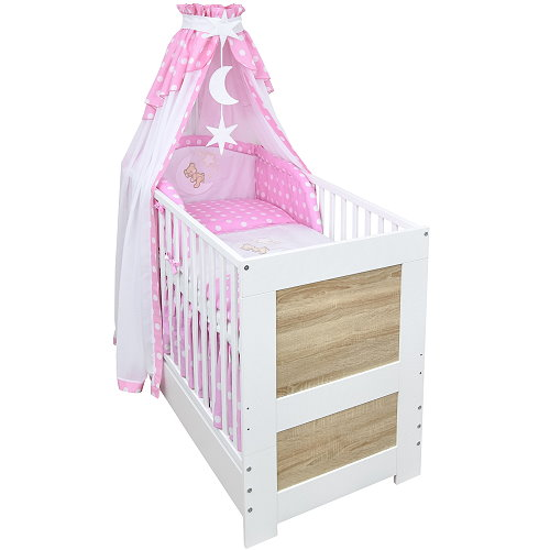 babybett kinderbett juniorbett 140x70 wei sonoma bettset. Black Bedroom Furniture Sets. Home Design Ideas