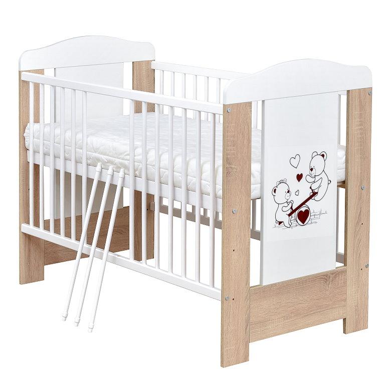 babybett gitterbett kinderbett teddyb r 120x60 sonoma matratze neu ebay. Black Bedroom Furniture Sets. Home Design Ideas
