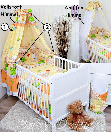 babybettw sche kinderbettw sche nestchen himmel bettw sche 100x135cm neu var 1 ebay. Black Bedroom Furniture Sets. Home Design Ideas