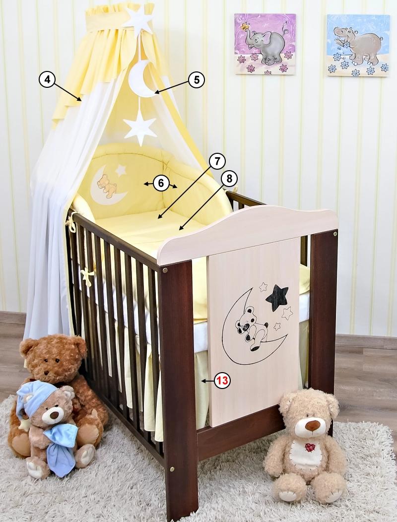 Babybett kinderbett mond teddy bettset komplett neu ebay - Babybett mond ...