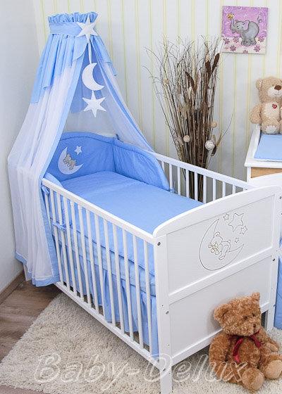 Baby-Bettwaesche-Himmel-Nestchen-Bettset-mit-Applikation-100x135cm-Neu