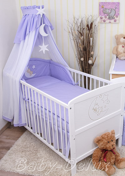 baby bettw sche himmel nestchen bettset mit applikation 100x135cm neu ebay. Black Bedroom Furniture Sets. Home Design Ideas