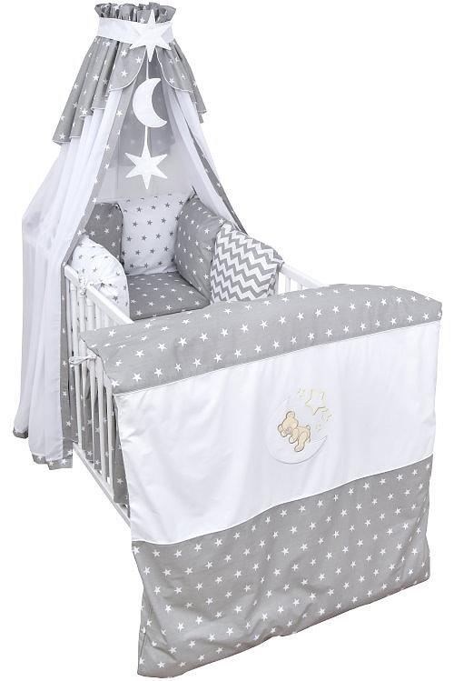 babybett kinderbett wei 140x70 nestchen bettw sche. Black Bedroom Furniture Sets. Home Design Ideas