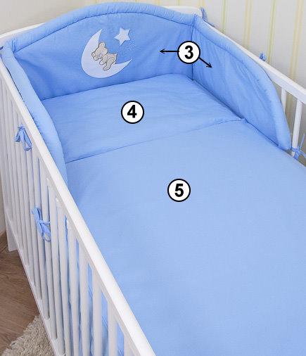 baby bettw sche himmel nestchen bettset mit applikation 100x135cm neu ebay. Black Bedroom Furniture Sets. Home Design Ideas