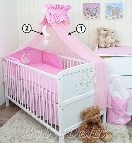 baby bettw sche moskitonetz himmel 2in1 bettset mit. Black Bedroom Furniture Sets. Home Design Ideas