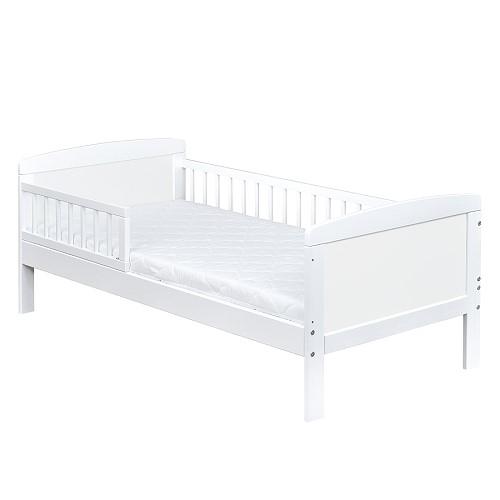 kinderbett juniorbett massivholz in weiss 140x70 matratze 9cm ebay. Black Bedroom Furniture Sets. Home Design Ideas