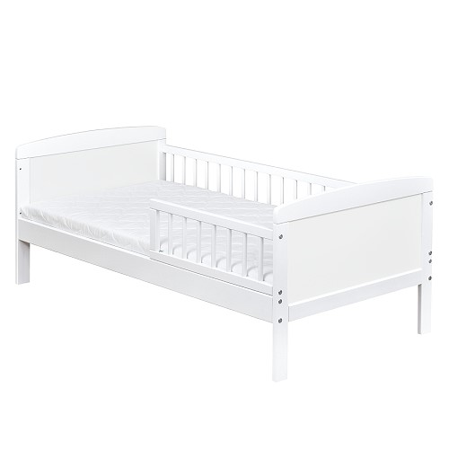 kinderbett juniorbett massivholz in weiss 140x70 matratze ebay. Black Bedroom Furniture Sets. Home Design Ideas