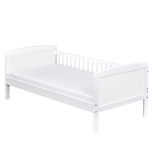 kinderbett juniorbett massivholz in weiss 140x70 matratze 9cm ebay. Black Bedroom Furniture Sets. Home Design Ideas