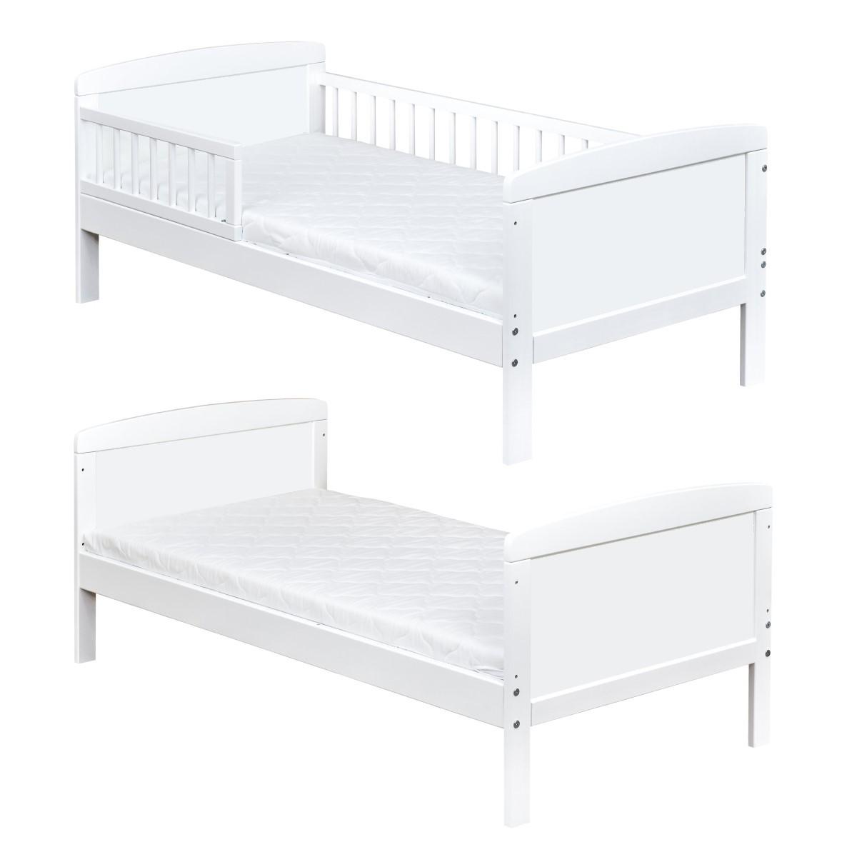 babybett kinderbett gitterbett 2in1 umbaubar 70x140 massivholz neu ebay. Black Bedroom Furniture Sets. Home Design Ideas