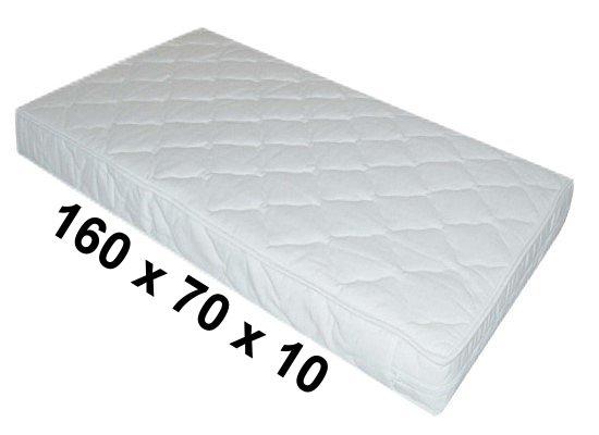 kindermatratze kinderbett matratze 160x70x10cm kokos schaumstoff wei ebay. Black Bedroom Furniture Sets. Home Design Ideas
