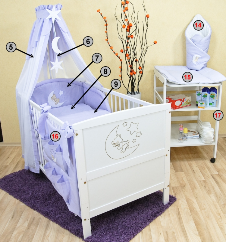 babybett kinderbett juniorbett wei mond bettset neu ebay. Black Bedroom Furniture Sets. Home Design Ideas